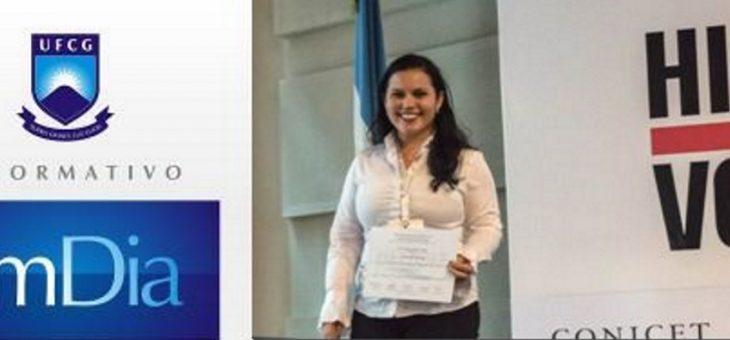 Estudante da UFCG é premiada em evento internacional sobre alta voltagem