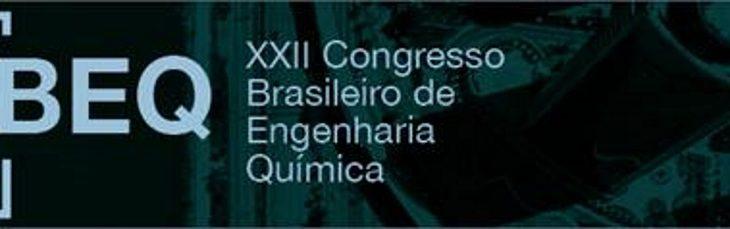 CCT estará representado no XXII Congresso Brasileiro de Engenharia Química