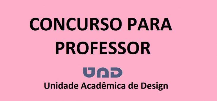 Concurso para professor de Design aceita inscrições até esta terça-feira (13/4)