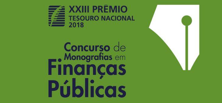 Abertas as inscrições para o Prêmio Tesouro Nacional – 2018