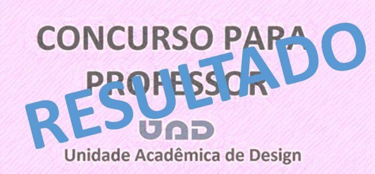 Concurso Público para Professor Efetivo da UAD – Resultado Final