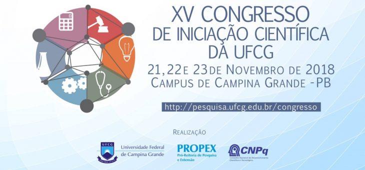 XV Congresso de Iniciação Científica da UFCG abre inscrições para submissão de trabalhos