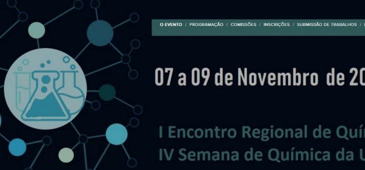 Abertas inscrições para o Encontro Regional e Semana de Química da UFCG em Cajazeiras